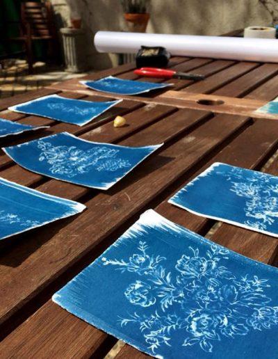 Leena Nammari, Cyanotypes by Colin Usher, Studio Faire, France